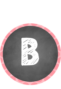 Circle Chalkboard Alphabet Chart