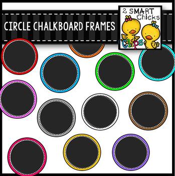 Circle Chalkboard Frames
