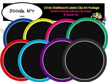 Circle Chalkboard Labels