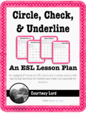 Circle, Check, & Underline - Review the Alphabet & Numbers