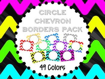Circle Chevron Border Pack FREEBIE