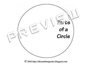 Circle Circumference Diameter Radius Foldable Interactive Notebook G-C.2, 7.G.4