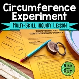 Circumference Discovery Lesson, Pi Day Scatter Plot