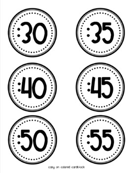 Circle Clock Labels