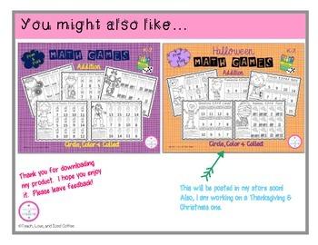 Circle, Color & Collect Math Games