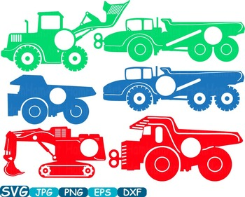 Circle Color Construction Machines toy toys cars car clipart work builders -325s