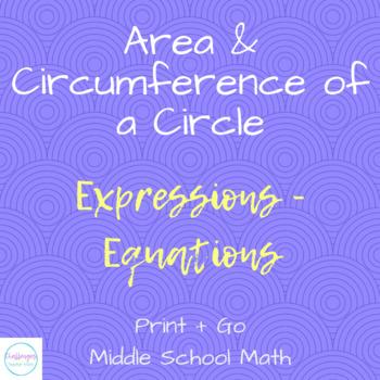 Circle Coloring Activity | Area + Circumference of a Circle