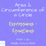 Area and Circumference of a Circle Coloring Activity