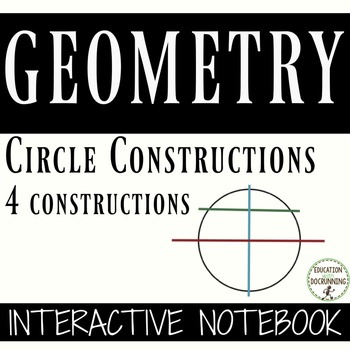 Circle Constructions Interactive Notebooks for Geometry