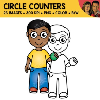 Digital Graphics - Circle Counter Clipart