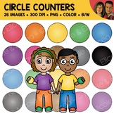 Digital Graphics - Circle Counter Clipart