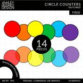 FREE Circle Counters Clipart {A Hughes Design}