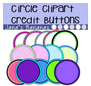 Circle Credit Button Clipart
