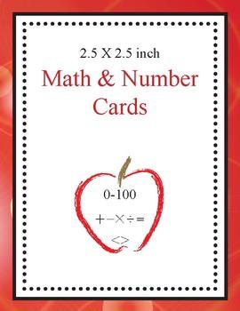 Math & Number Cards (Circle Design)