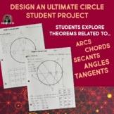 Circle Design Project EDITABLE Arcs Secants Tangents Chord