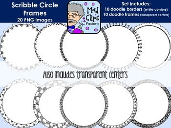 Scribble Circle Frames