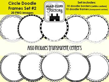 Circle Doodle Frames Set #2