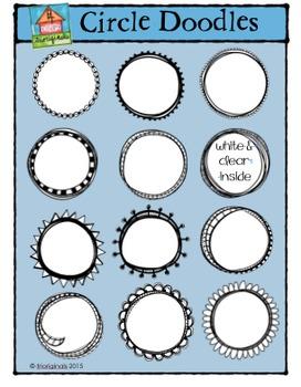 Circle Doodles {P4 Clips Trioriginals Digital Clip Art}