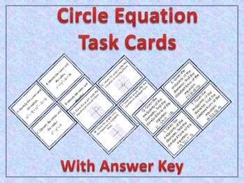 Circle Equation Task Cards
