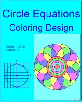 Circles - Equations of Circles # 1 Coloring Activity