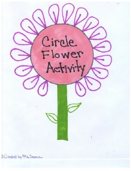 Circle Flower Activity