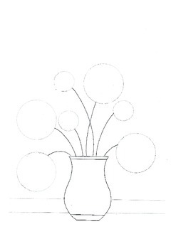 Circle Flowers in a Vase pattern