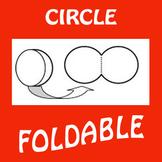 Circle Foldable Graphic Organizer - Hinged