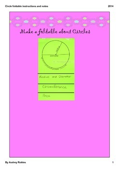 Circle Foldable with notes