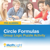 Circle Formulas Group Activity- Logic Puzzle | Good for Di