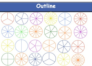 Circle Fraction Clipart