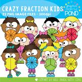 Circle Fraction Crazy Kids Clipart
