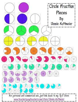 Circle Fraction Pieces (Clip Art)