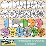 Circle Fractions Clip Art (Thick Lines)