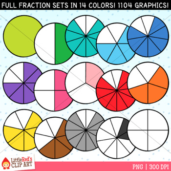 Circle Fractions Clip Art
