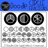 Circle Fractions Doodle FONT {Creative Clips Clipart}