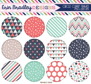 Circle Frame Clipart - Triangles Collection