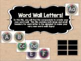 Circle Frame Word Wall Headers - Burlap, Black, Rainbow, &