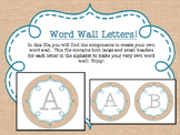 Circle Frame Word Wall Headers - Burlap and Teal {Two Size