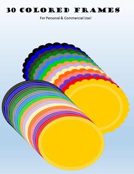 Circle Frames- Clip Art