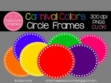 Circle Frames Clipart {Carnival Colors} Personal or Commercial Use