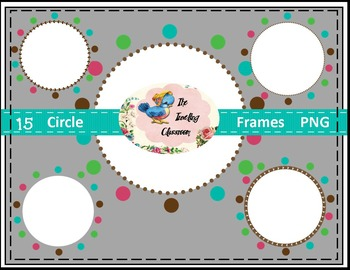 Borders Borders - Circle Frames (Digital Circle Frames for Commercial Use)
