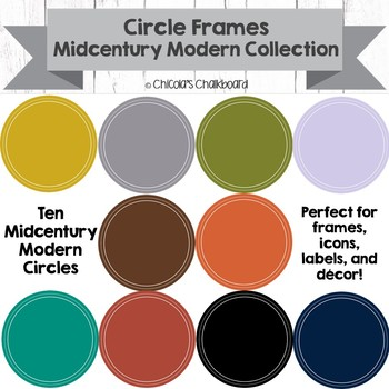 Circle Frames - Mid Century Modern Collection