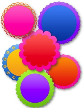 Circle Frames Set #3 Clip Art ~ CU OK ~ Circle Frames