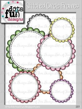 Circle Frames: Stitched