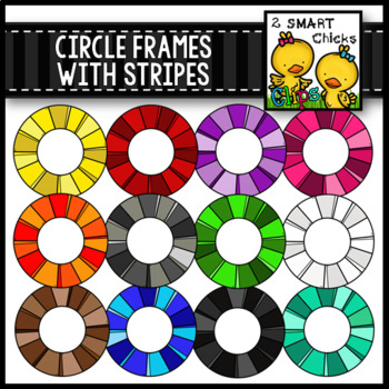 Circle Frames with Stripes