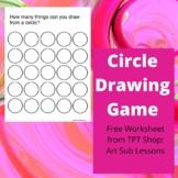 Circle Game - Free Art Worksheet - Distance Learning - Bac