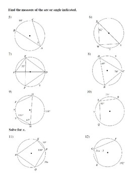 Circle Geometry Unit Plan (Discovery)- Includes Test and Review Sheet