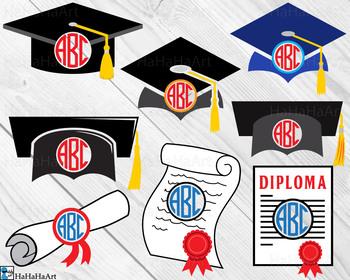 Circle Graduation - Clip Art and Cutting Files Digital Files cod214c
