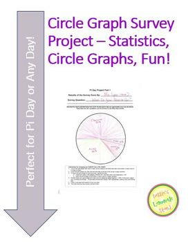 Circle Graph-Pie Chart - Survey Project - Perfect for Pi Day or anytime!