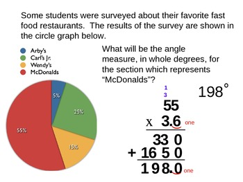 Circle Graph Practice - Changing Percent to Degrees